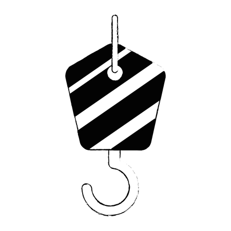 crane hook isolated icon vector illustration design