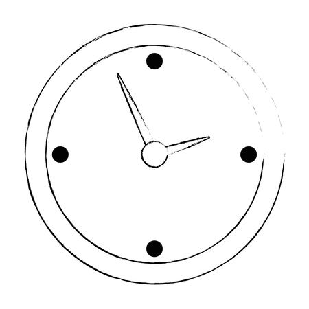 time clock isolated icon vector illustration design Archivio Fotografico - 110303109
