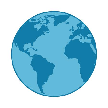 wereld planeet aarde pictogram vector illustratie ontwerp