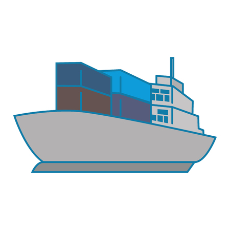 cargo ship isolated icon vector illustration design Illustration