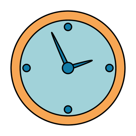 time clock isolated icon vector illustration design Banque d'images - 107689682