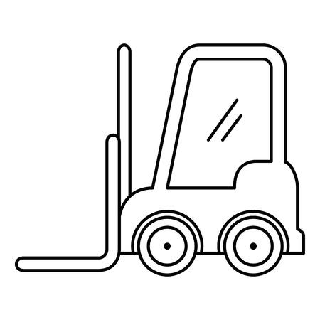 forklift vehicle isolated icon vector illustration design Foto de archivo - 110303203