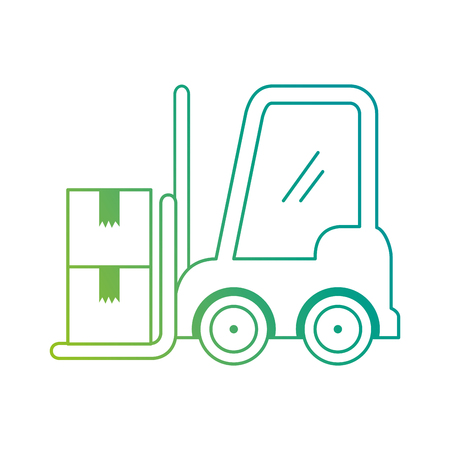 forklift vehicle with boxes vector illustration design  イラスト・ベクター素材