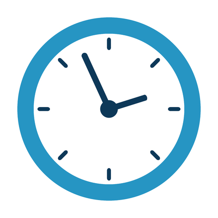 time clock with shield vector illustration design Banque d'images - 110303273