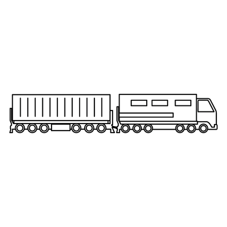 cargo train logistic service vector illustration design
