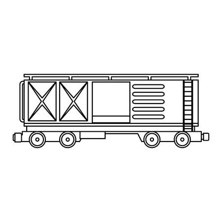freight train wagon logistic service vector illustration design