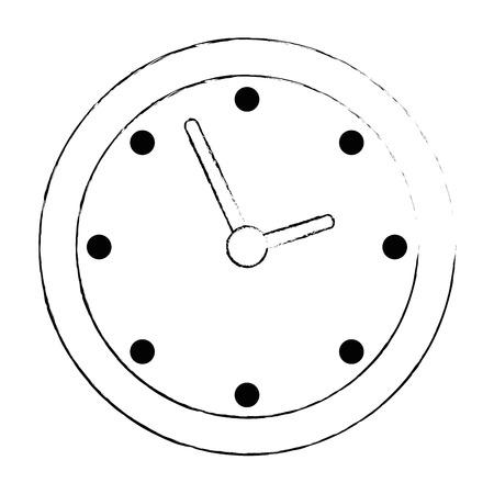 time clock isolated icon vector illustration design Archivio Fotografico - 110303362