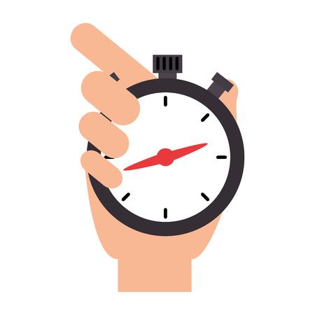 mano con disegno di illustrazione vettoriale timer cronometro