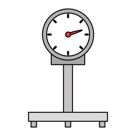 Mesure de l'échelle service de livraison de poids conception d'illustration vectorielle Vecteurs