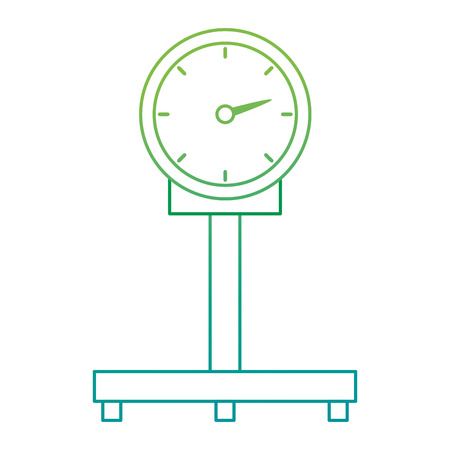 scale measure weight delivery service vector illustration design Illustration