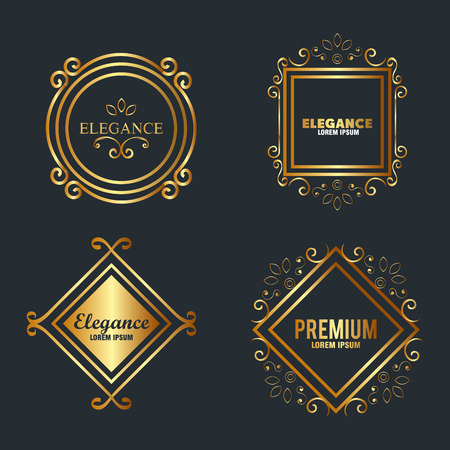 premium and elegance set frames vector illustration design Illustration