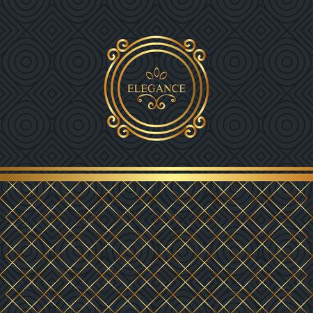 elegance style golden frame vector illustration design