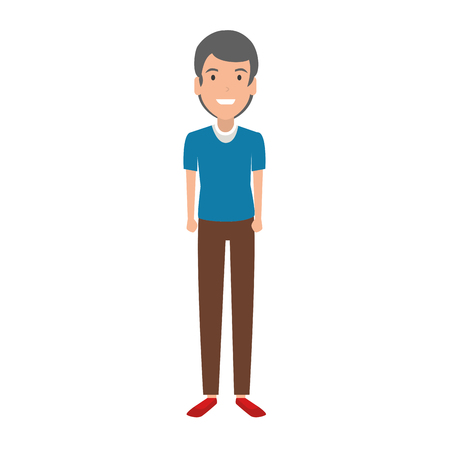 elegant and young man character vector illustration design 向量圖像