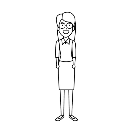 beautiful woman with glasses character vector illustration design Ilustracja