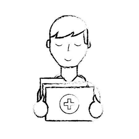doctor professional folder file medical document vector illustration hand drawing Illustration