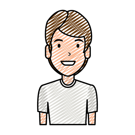elegant and young man character vector illustration design Ilustração
