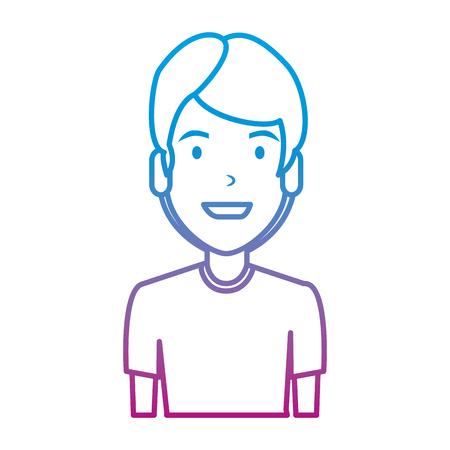 elegant and young man character vector illustration design Illustration