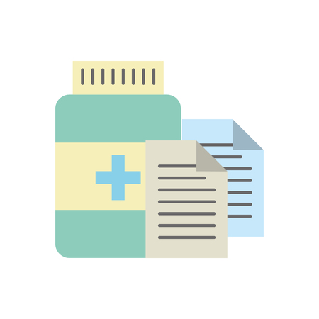 prescription medical bottle pills pharmacy vector illustration