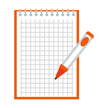 notebook school with pen education vector illustration design Illustration