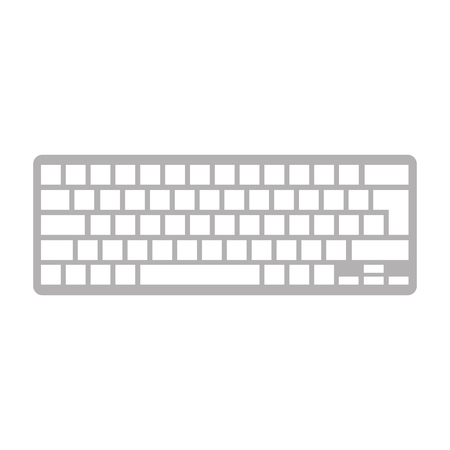 computer keyboard isolated icon vector illustration design Stock Vector - 110242587