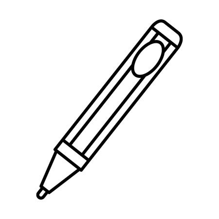 pen writer isolated icon vector illustration design Illustration