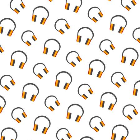 audio earphones pattern background vector illustration design