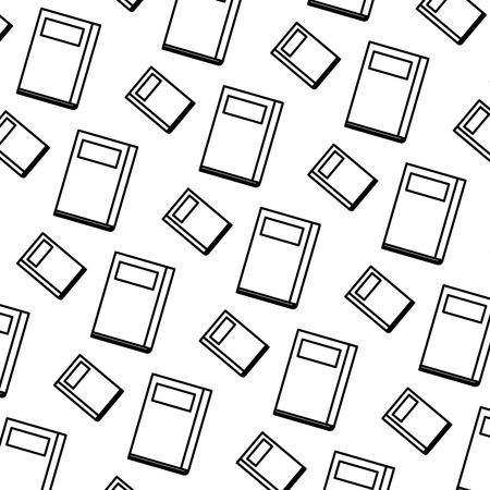 text books pattern background vector illustration design  イラスト・ベクター素材