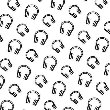 audio earphones pattern background vector illustration design Foto de archivo - 110242663