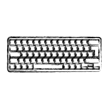 computer keyboard isolated icon vector illustration design Ilustração