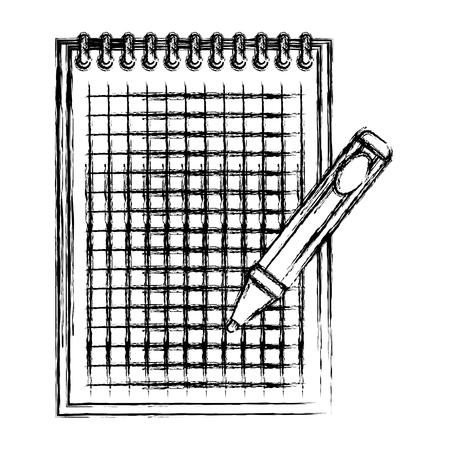 notebook school with pen education vector illustration design 向量圖像