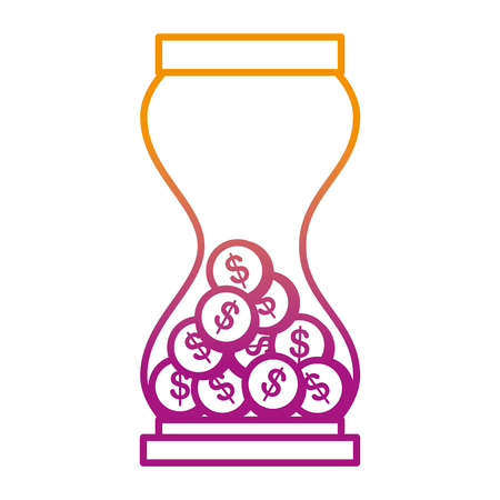 hourglass with coins icon vector illustration design 일러스트