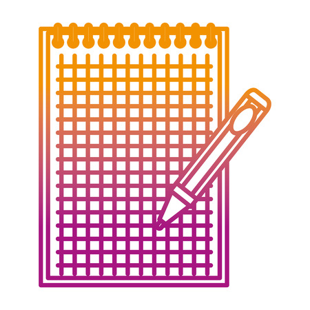 notebook school with pen education vector illustration design Illustration