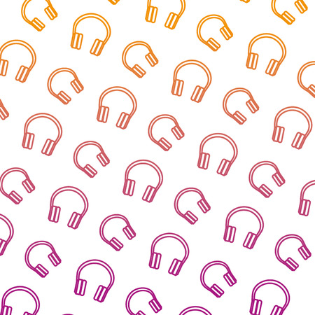audio earphones pattern background vector illustration design