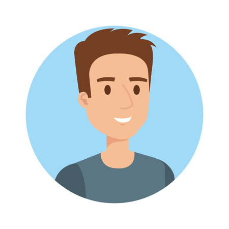 young and casual man character vector illustration design