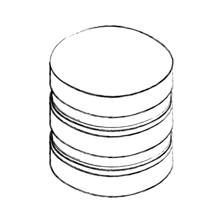 data center disks icon vector illustration design Standard-Bild - 107966897