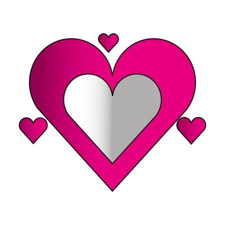 hearts love valentines card vector illustration design Ilustrace
