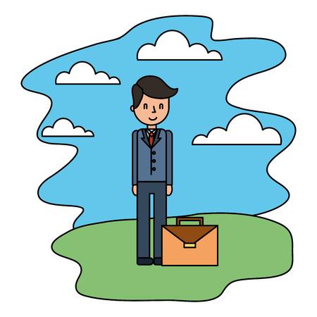 businessman elegant avatar character vector illustration design Ilustrace