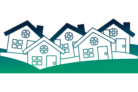 houses buildings silhouette icon vector illustration design
