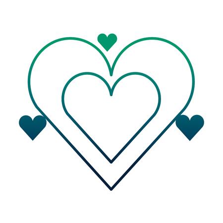 hearts love valentines card vector illustration design 일러스트