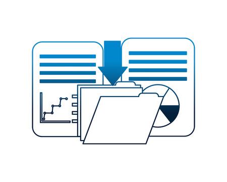 Download Datenordner Datei Dokument Bericht Informationen Vektor-Illustration