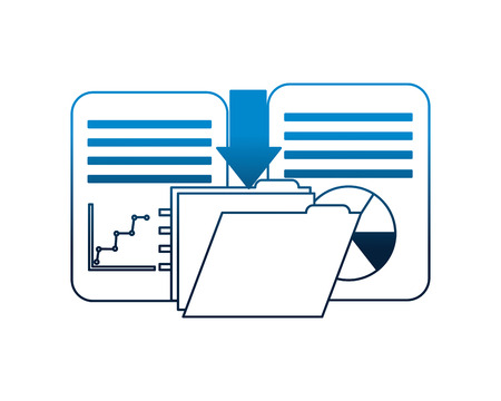 télécharger le dossier de données fichier document rapport informations illustration vectorielle