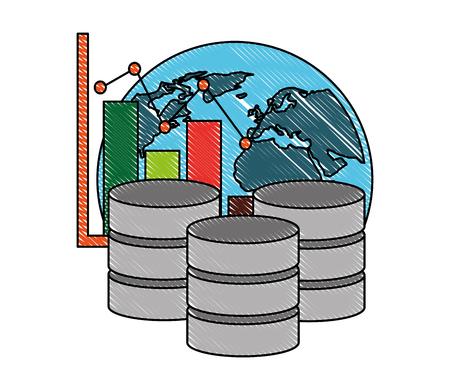 database center storage world graph financial