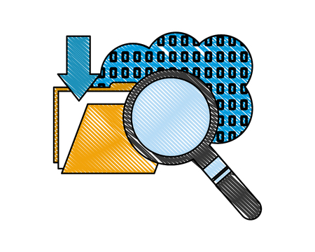 cloud storage binary folder file searching data Banque d'images - 107973211