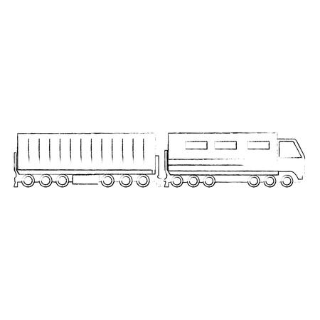 Servicio logístico de trenes de carga, diseño de ilustraciones vectoriales Ilustración de vector