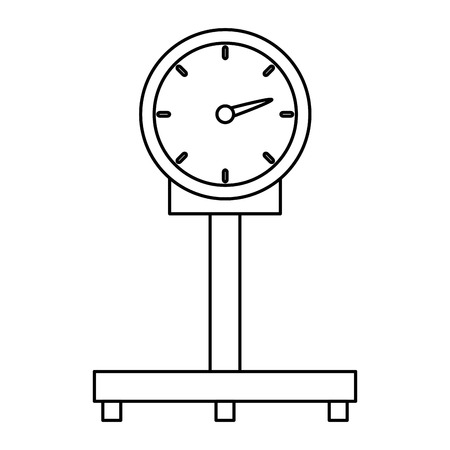 scale measure weight delivery service vector illustration design Stock Illustratie