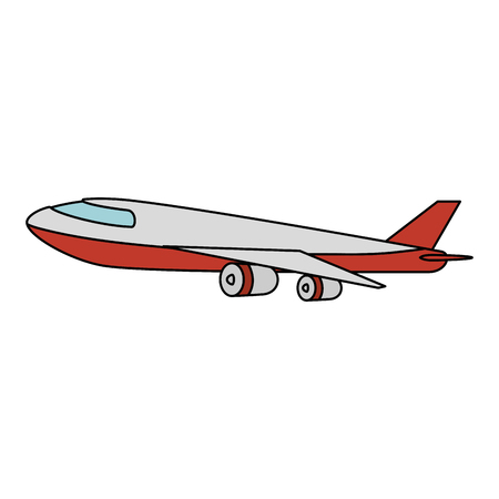 airplane flying isolated icon vector illustration design 写真素材 - 110176360