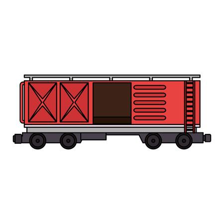 Vagón de tren de mercancías servicio logístico, diseño de ilustraciones vectoriales