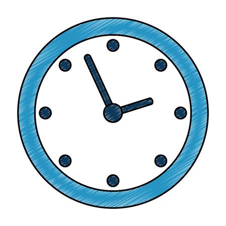 time clock isolated icon vector illustration design Archivio Fotografico - 107989224