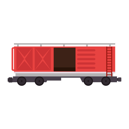 freight train wagon logistic service vector illustration design Foto de archivo - 110176483