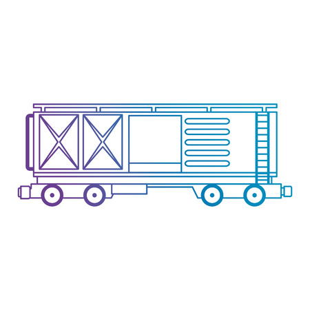 freight train wagon logistic service vector illustration design